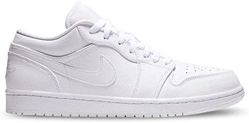 Nike Herren AIR Jordan 1 Low Basketballschuhe, Weiß (White/White/White 112), 44 EU