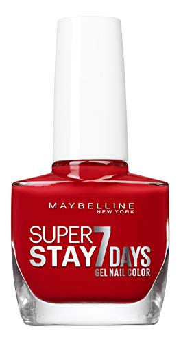 Gemey Maybelline (Gem6) Maybelline New York Tenue & Strong Pro nagellak, technologie Gel 08, rood Passion Red