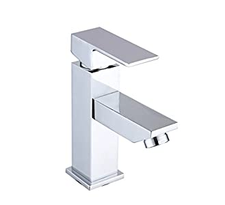 DP Grifería - Grifo monomando de lavabo, color plateado, serie Arce