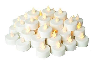 nstapark LCL Series LED Flameless Tea Light Candles, 4-Dozen Pack ...