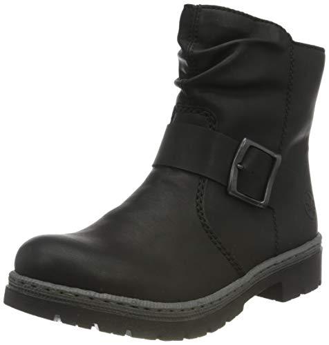 Rieker Damen Y9469 Mode-Stiefel, schwarz, 39 EU