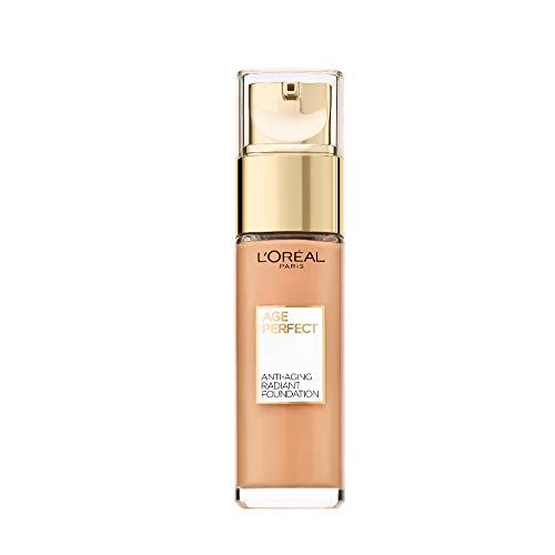 L'Oréal Paris Age Perfect Feuchtigkeitsspendendes Make-up in Nr. 180 beige dore, für reife Haut und einen strahlenden Teint, mit LSF 17, 30 ml