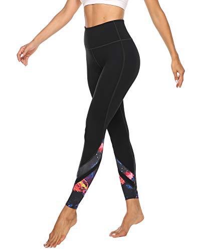 JOYSPELS Leggings Damen, Sporthose Lang Yogahosen, Sport Leggins für Damen Yoga Tights, Sternenhimmel, L=DE42/44