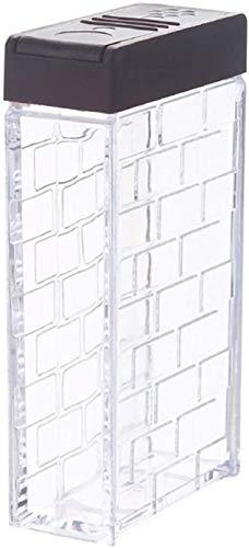 Botes para Alimentos Tarro de Almacenamiento Tarros Bidones De Plástico De Almacenamiento De Alimentos Recipientes Transparentes Tarro De Cocina Condimento Alimenticio Latas, Azúcar Jar Botella De Alm