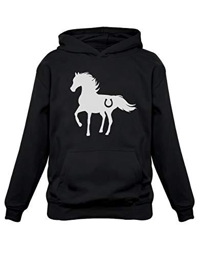 Cheval Wild Style Luck Sweatshirt Capuche Enfant 11/12A Noir