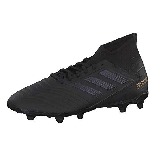 adidas Herren Predator 19.3 FG Fußballschuhe, Schwarz (Core Black/Core Black/Gold Met. Core Black/Core Black/Gold Met.), 43 1/3 EU