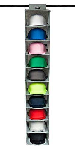 Boxy Concepts Hat Rack 10 Shelf Hanging Closet Hat Organizer for Hat Storage - Protect Your Caps & Keep Them in Great Condition - Easy Hat Holder & Baseball Cap Organizer