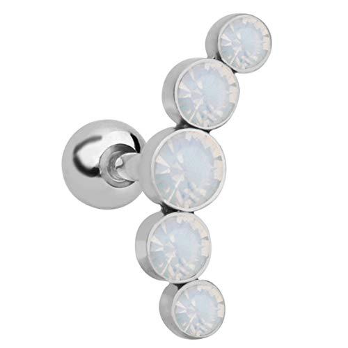 Ruby569y Pendientes colgantes para mujeres y niñas, diseño único de metal elegante clip de oreja para exteriores - marfil