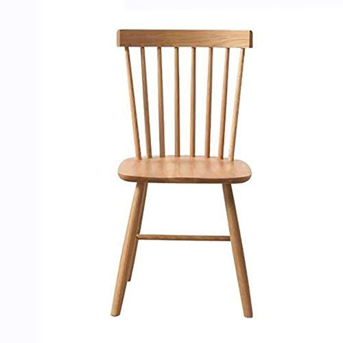 LRXGOODLUKE Massivholzstuhl, European Art einfach und einfache Nordic Windsor Chair White Oak Dining Chair Modern Dining Chair,Woodcolor