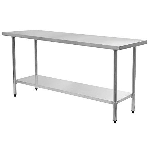 "24"" x 72"" Stainless Steel Work Prep Table Commercial Kitchen Restaurant"