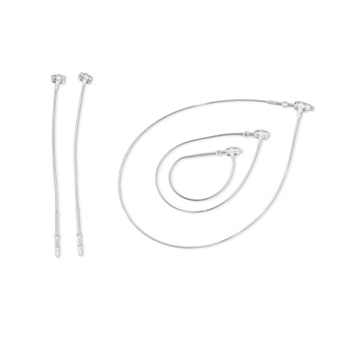 1000 Sicherheitsfäden 125mm - aus transparentem Kunststoff, Loop Pins von Pokornys [FSI125]