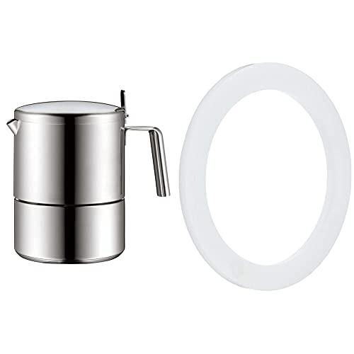 WMF Kult Espressokocher 300ml, Espressomaschine für 6 Tassen, Cromargan Edelstahl mattiert, Induktion & Concept Dichtungsring für Espresso-Maschine, Silikon, Ersatzteil