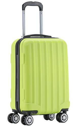 BEIBYE TSA-Schloß 2080 Hangepäck Zwillingsrollen neu Reisekoffer Koffer Trolley Hartschale Set-XL-L-M(Boardcase) (Green, M)
