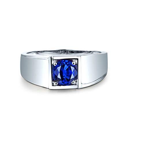 AmDxD no-metal-stamp (Fashion only) oro blanco 18 ct Round Brilliant Blue Sapphire