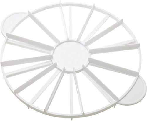 Round Cake Slice & Pie Slicer Marker, Cake Divider, Cheesecake Cutter, Double Sided Cake Portion Marker, 10 or 12 Slices-Works for Cakes Up To 16-Inches Diameter