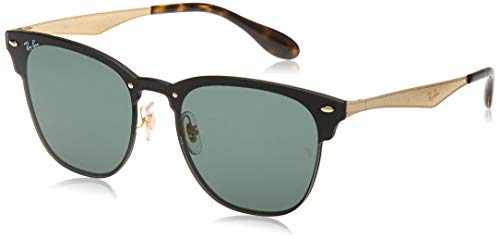Ray-Ban 3576n Gafas de sol, Gold Striped/Graygreen, 47 Unisex-Adulto