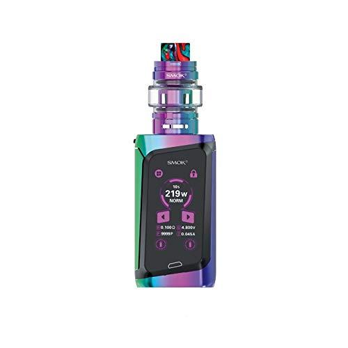 SMOK Morph 219 KIT 219W TF Atomiseur Cigarette électronique Cigarette électronique Écran tactile Boîte Mod Vape Comprend un porte-clés BTKSY, sans nicotine ni huile de fumée. (7-Color and Black)