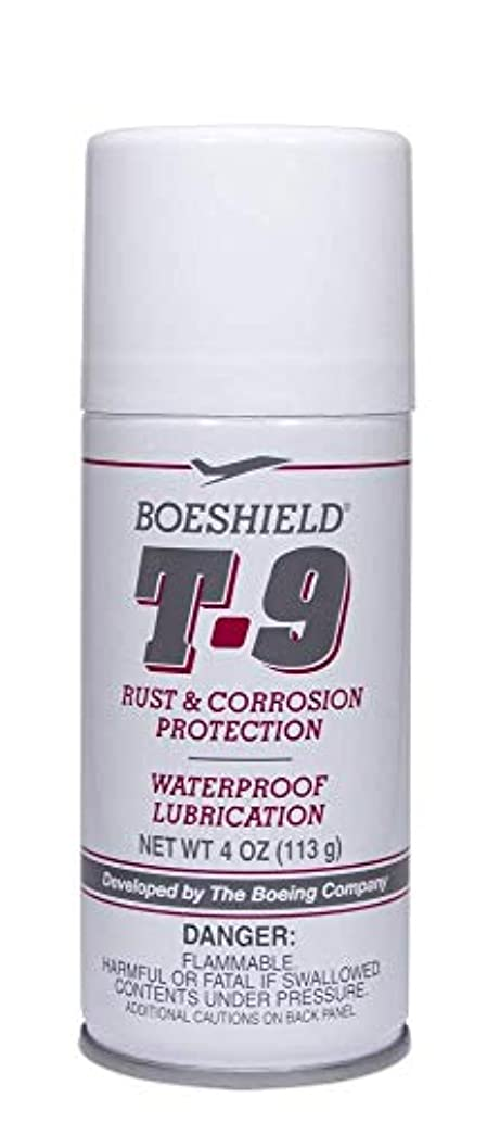 BOESHIELD T-9 Rust & Corrosion Protection/Inhibitor and Waterproof Lubrication, 4 oz aerosol