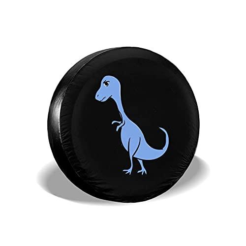 Hokdny Cubierta DE LA Rueda Dinosaurio Azul Enojado Romantic Wheel Cover with PVC Leather Waterproof Dust-Proof Fit