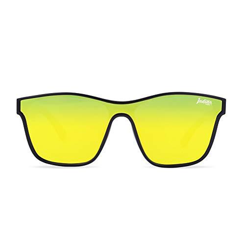 The Indian Face Gafas de Sol Espejadas Oxygen Mujer, Hombre Color Negro Lente Amarilla
