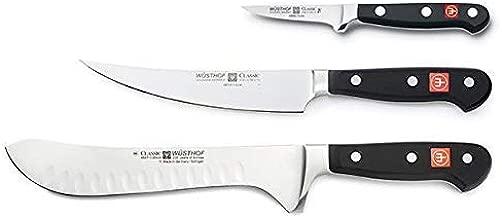 Wusthof 8503 CLASSIC Artisanal Butcher Set, One Size, Black, Stainless Steel
