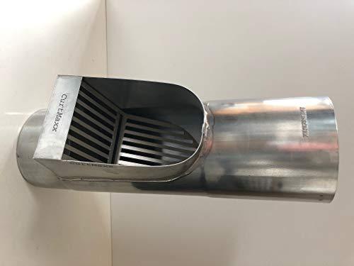 Fallrohrfilter von CurtMaxx | Effektiver Filter für Fallrohre - filtert Laub, Äste und Schmutz aus dem Fallrohr | Ø 100 mm, Zink