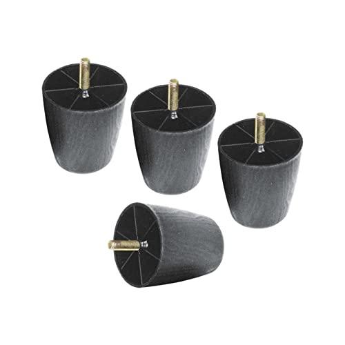 90 mm de Altura Patas de Muebles Cónico Pies de Repuesto de Muebles el Plastico Pies de Sofá Tornillo M8,para Sillones de Cocina Camas Sillones,Negro 4 Piezas