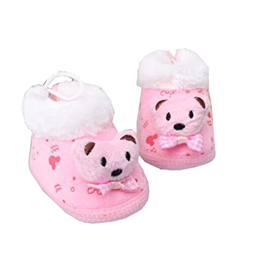 Soft Warm Unisex Baby Booties Newborn Shoes Infant Walking Shoes Great Gift for Baby, F