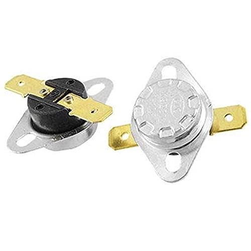 NO LOGO LIUSBAO-KT, 5 x KSD301 Temperature Control Switch Thermostat Fixed Flat Foot 50/55/60/65/70/75/80/82/85/90/95/100/105/110-160 Celsius N.C. (Color : 150 Celsius)