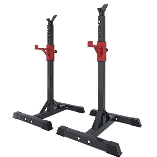 Haushalt Langhantelablage Indoor Squat Rack Hantelablage Trainingsgerät Fitnessgerät Bankdrückgerät Höhenverstellbar