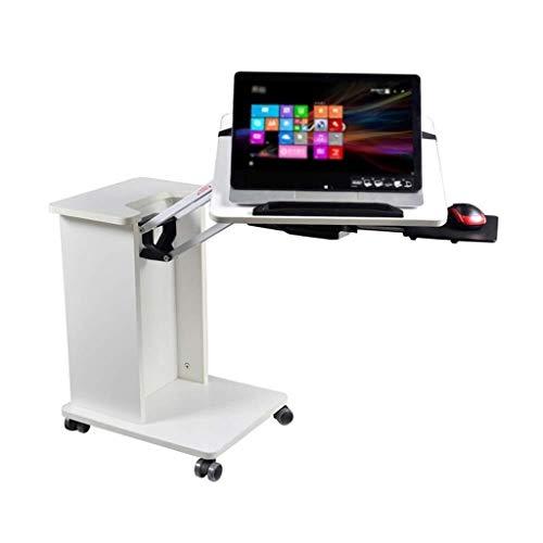 Bedside Mobile Laptop Bureau - Multifunctionele Laptop Tafel Thuis Werkbank, Met Wielen Sofa Vouwen Leren Luie Tafel Verstelbare Laptop Tafel