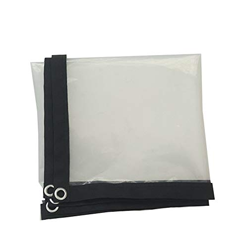 WZHTARPAULIN Outdoor Transparant Poncho Airconditioning Zacht Gordijn Dikke Dek Kunststof Doek Poncho Dekzeil Waterdichte Doek Isolatiedoek Multi-size Optioneel