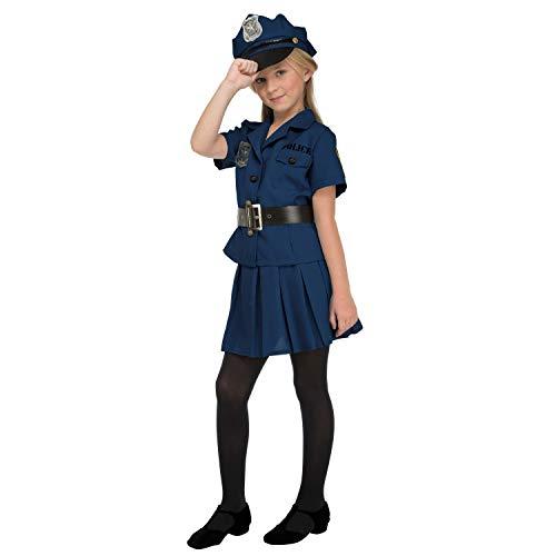 My Other Me Me-204231 Disfraz de policía para niña, 7-9 años (Viving Costumes 204231)