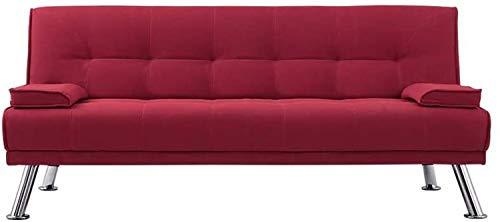 LMCLJJ Sofá Cama Funda para sofá Funda para sofá en Forma de L Funda elástica Sofá de Salon Decoración de Hogar Cojines y Tapicería Color: Verde (Color : Red)