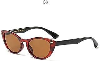 SDFS - SDFS Gafas de sol con forma de ojo de gato para mujer, con funda, C6