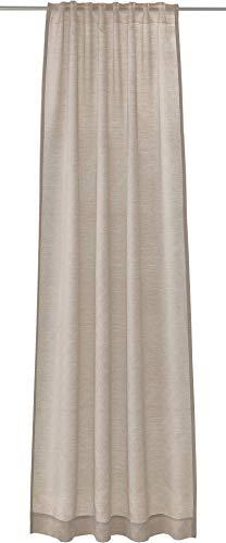 Joop! Living Vorhang mit verdecktem Schlaufenband Glare kitt Einfarbig Uni
