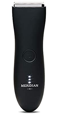The Trimmer by Meridian: Electric Below-The-Belt Trimmer Built for Men | Effortlessly Trim Pesky Hair | Waterproof Wet/Dry Groin & Body Shaver | 90 Minute Battery Life (Oynx) from Meridian