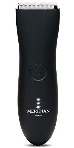 The Trimmer by Meridian: cortadora eléctrica por debajo del cinturón diseñada para hombres | recorta sin esfuerzo el pelo molesto | Afeitadora de ingles húmedo/seco y cuerpo