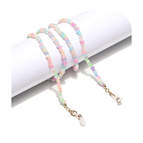 Lanyards Las mujeres de la manera de las gafas de sol de las cadenas de las perlas de cristal acrílico Perlas de las gafas de sol de las cadenas de