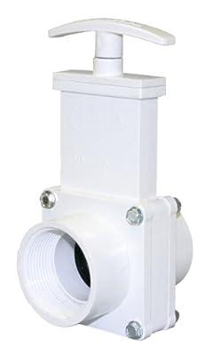 "Valterra 6107 PVC Gate Valve, White, 1-1/2"" FPT from Valterra Products"
