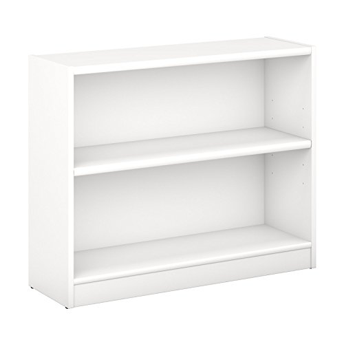 Bush Furniture Universal 2 Shelf Bookcase in Pure White