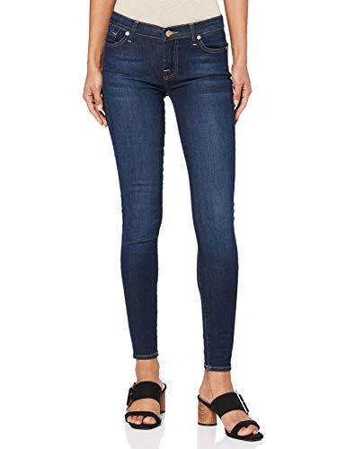 7 For All Mankind Damen The Skinny Jeans, Dark Blue Ha, 28