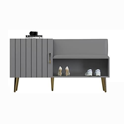 zapatero Taburete de zapatos Cabina de depósito de zapatos Rack de almacenamiento de armario muy adecuado para gabinete de entrada Corredor o sala de estar. Zapateros ( Color : Light luxury gray )