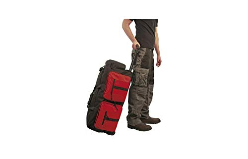 Portwest B908BKR Sac à roulettes multi poches, noir/rouge