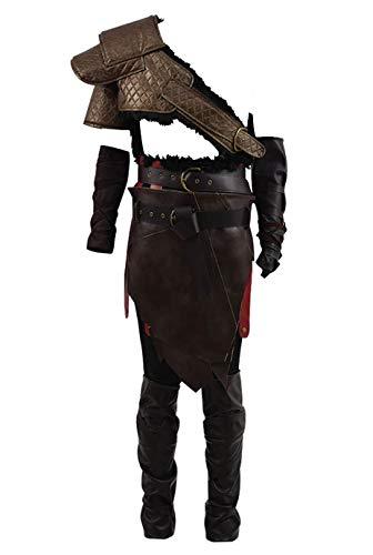 Yewei Actionspiel God 4 Vater Spartan Krato Kostüm Herren Halloween Kostüm Outfit (Braun, XL)