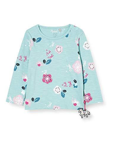Sigikid Baby-Mädchen Langarmshirt aus Bio-Baumwolle, Größe 062-098 Pullover, Blau/Blumen, 68
