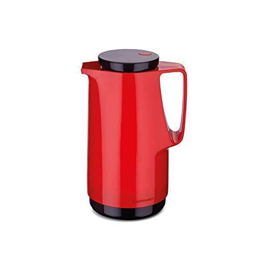 ROTPUNKT Isolierkanne 760 Maxima 1,0 l   Zweifunktions-Drehverschluss   BPA-frei - gesundes Trinken   Made in Germany   Warm + Kalthaltung   Glaseinsatz   Crazy red