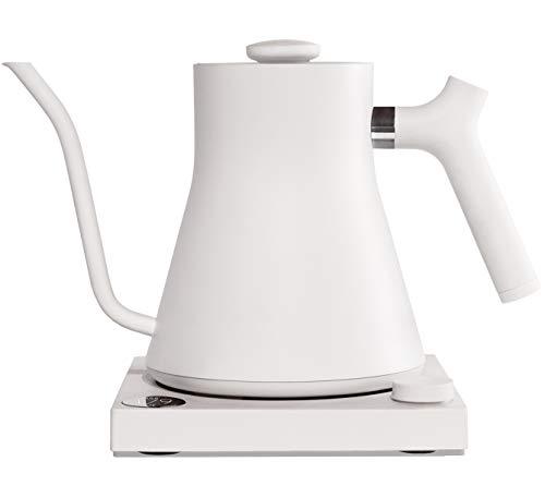 Fellow Stagg EKG | Elektrischer Kaffee- und Teekocher | Mattweiß | Variable Temperaturregelung | Schnelles Aufheizen | 1200 Watt Leistung | Eingebauter Timer | Fassungsvermögen 1L