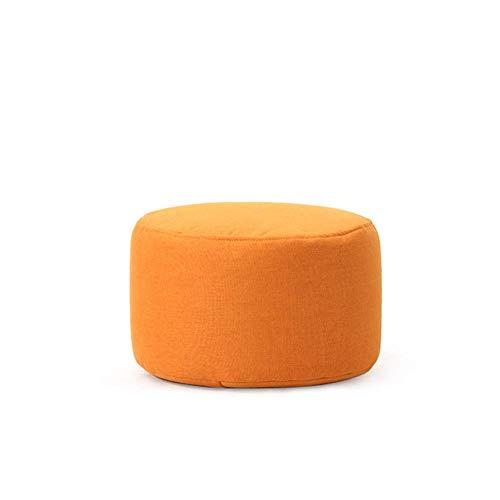 qazwsx Puf Redondo de Color sólido, Grueso, Suave, Transpirable, Lavable, Taburete otomano, Almohada de meditación, cojín para el Suelo para la habitación de los niños, Naranja, 45x45x25cm (18x18x1