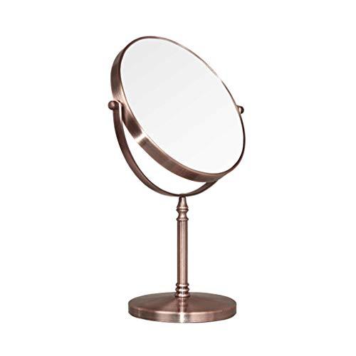 JLC Bureau Double Face Anti-Empreintes digitales Miroir de Maquillage Rotation à 360 ° avec loupe 3X pour la Salle de Bain 8 Pouces,7In